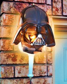 Darth Vader Light Cover Star Wars Outdoor Black Porch Lamp Decoration Lantern