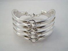 How to make Spoon Rings and Bracelets | forkjewelery-linked-fork-bracelet