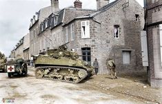 Stuart of the Cavalry Recon Squadron (Mechanized), US Armored Division, turning into Rue de la Croix Quillard in Coutances, Normandy on July Pin by Paolo Marzioli Sherman Tank, Military Armor, Ww2 Tanks, Military Diorama, German Army, D Day, Panzer, Normandy, Jeep