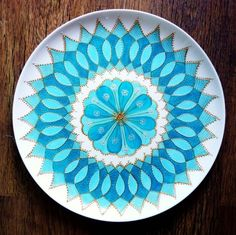 Hand Painted Mandala Plate by tindink on Etsy, $60.00