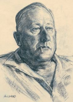 Robert Hannaford (1944 -      ) | My-father-charcoal-1965