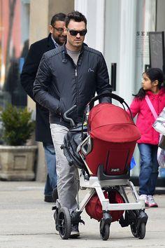 Brian Austin Green Pushes His Orbit Baby Stroller Through NYC! (Photos)