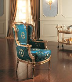 Image detail for -art.:8900 LOUIS XVI STYLE BERGERE ARMCHAIR cm.72x80xh.102
