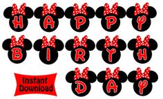 Minnie Mouse Birthday Banner - Red Minnie Mouse