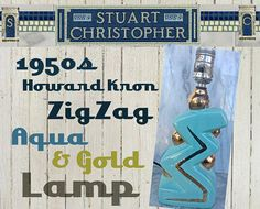 Mid Century Turquoise and Gold Howard Kron by stuartchristopher, $125.00