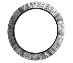 """30"""" Dia Circular Mirror with 1/4"""" Plate Glass and 1"""" Bevel"""