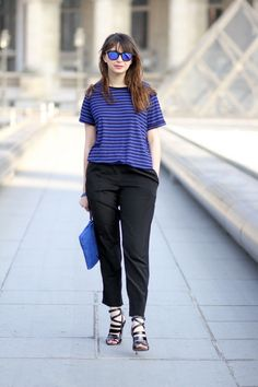 the brunette blog mode paris blue mood nat & nin azuréen