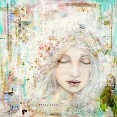 Inner truth : mixed media painting by Laly Mille