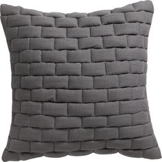 """mason quilted grey 18"""" pillow  