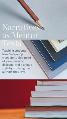 The best way for secondary ELA students to learn narrative writing is from the experts—authors! Narratives as Mentor Texts teaches students how to engage readers using the techniques they learn from published novels. From Read it. Write it. Learn it. Writing Mentor Texts, Mentor Sentences, Memoir Writing, Narrative Writing, Student Teaching, Teaching Resources, Teaching Tools, Elementary Science Fair Projects, College Quotes