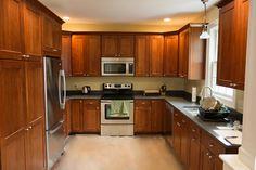 U shaped kitchen.