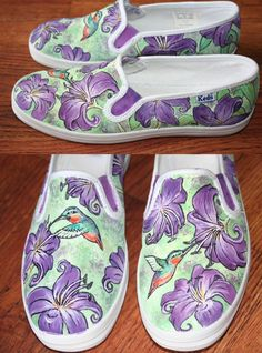Custom Designed Handpainted Shoes by eliap on Etsy