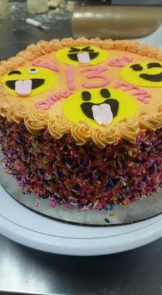 Emoji Birthday Cake - Simply Cupcakes and More of Warner Robins, GA