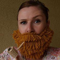 DIY Yarn Beards {Tutorial}  I think I need to make one! duck dynasty watchin' beard club. @Elizabeth Steward-Betts  @Vanessa Cox we could wear them to work! hehehe