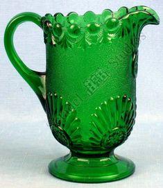 *DEPRESSION GLASS ~ Canadian depression green glass large pitcher