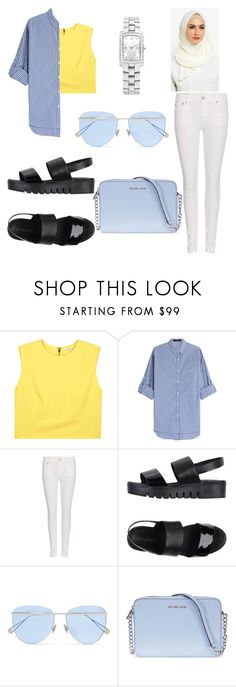 """""""Untitled #492"""" by daily2outfit ❤ liked on Polyvore featuring Alice + Olivia, Steffen Schraut, Polo Ralph Lauren, Jeffrey Campbell, Sunday Somewhere, Michael Kors and Baume & Mercier"""
