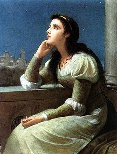 Juliet. Painting by Philip Hermogenes Calderon, 1888. Public domain.