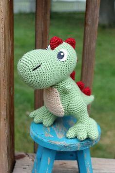 Crochet pattern in english tim the lovely dinosaur 923 cm 30 plus free crochet amigurumi patterns fandeluxe Gallery