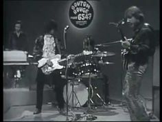 """Jimmy Page (who's now 71) performing with the Yardbirds on """"Train Kept-a-Rollin'"""" in 1968."""