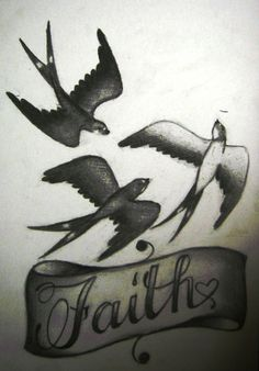 swallows faith tattoo design