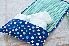 Changing pad with pocket {link to tutorial in post}
