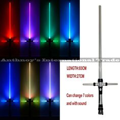 Kylo Ren Star Wars Lightsaber With Light & Sounds 7 color changing Laser Sword Toys Cosplay Weapons