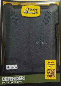 """NEW! Otterbox Defender Series Case for Amazon Kindle Fire HD 7"""" Black 77-33691 #OTTERBOX"""