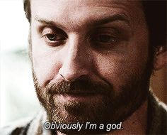 Obviously I'm a god. Chuck gif