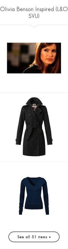 """""""Olivia Benson Inspired (L&O SVU)"""" by giovanna1995 ❤ liked on Polyvore featuring people, outerwear, coats, jackets, coats & jackets, burberry, lined trench coat, mid length trench coat, burberry trenchcoat and military-style coats"""