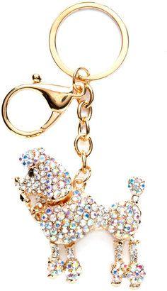 ShopStyle: Bling Poodle Keychain