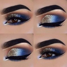Eye Makeup Tips – How To Apply Eyeliner – Makeup Design Ideas Cute Eye Makeup, Gold Eye Makeup, Makeup Eye Looks, Smokey Eye Makeup, Gorgeous Makeup, Awesome Makeup, Mac Makeup, Glitter Makeup, Glitter Eyeshadow Tutorial