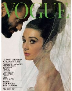 Audrey Hepburn on the cover of French Vogue, May 1963.