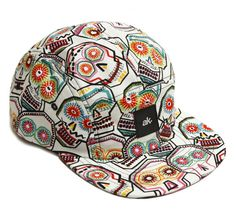 6d5368bb561 Limited Edition Accessories Akomplice AK 5 Panel Camp Cap Hat Skull Tattoo