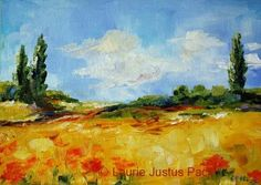 Poppy+Fields,+Tuscan+Landscape,+painting+by+artist+Laurie+Justus+Pace