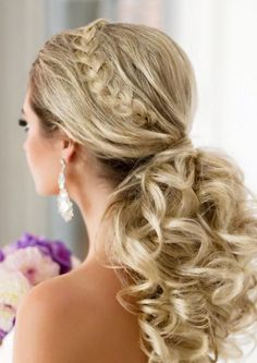 Elstile long wedding hairstyle idea