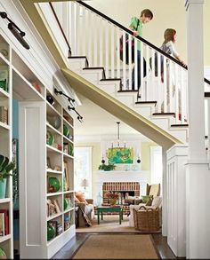 Pass thru Stairway Storage