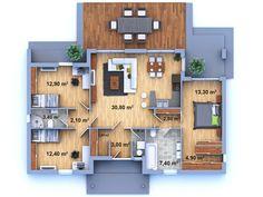 PŮDORYS - DŮM NA KLÍČ 38 - Zděný dům na klíč 38 - Dřevostavba na klíč 38 - Rodinný dům na klíč 38 - Nízkoenergetický dům na klíč 38 - Stavba domu na klíč 38 - Nízkoenergetická dřevostavba na klíč 38