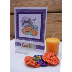 Halloween Card, Handmade Card with Cat Design, Cat Halloween ($3.25) ❤ liked on Polyvore featuring home, home decor and stationery