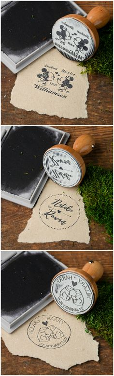 Wedding Custom Wooden Stamps #weddingideas #unique #rustic #custom #lovely #woodstamp #stamp #newdesign #musthave