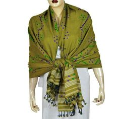 Women Wrap Dress Woolen Tie Dye Scarf Shawl Winter Clothing ShalinIndia. $63.56. Tie dye shawl made of pure wool fabric in tribal style.. 100% wool. All purpose, formal, casual and evening wear.. Dry clean only.. Size: 80 inches x 35 inches. (tdswl471). Dry Clean Only. Created by handloom weavers of Kutch region of Gujarat in India. Save 40% Off!