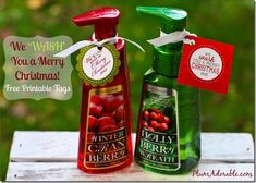 We Wash You A Merry Christmas soaps with printable Tags
