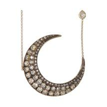 Renee Lewis Diamond Crescent Necklace to the moon baby!