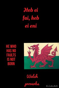 Welsh Sayings, Welsh Words, Learn Welsh, Cymric, Wales Flag, Welsh Language, Castles In Wales, Welsh Dragon, Proverbs Quotes