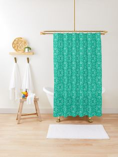 """Mint Leaf #1"" Shower Curtain by Kettukas 