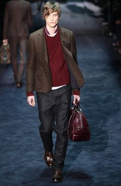 Gucci Men's RTW Fall 2012  Loving the color combo