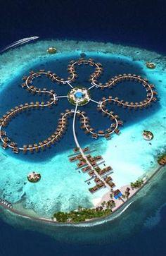 Maldivas Ganhará 40 Ilhas Artificiais; Veja Hotéis Flutuantes