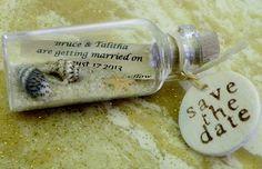 SAVE THE DATE Magnete Mini Flaschenpost verkauft von WeddingsAway