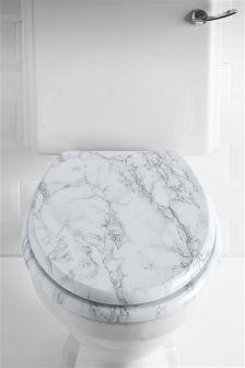 White Marble Effect Toilet Seat Toilet Seat Wooden Toilet Seats