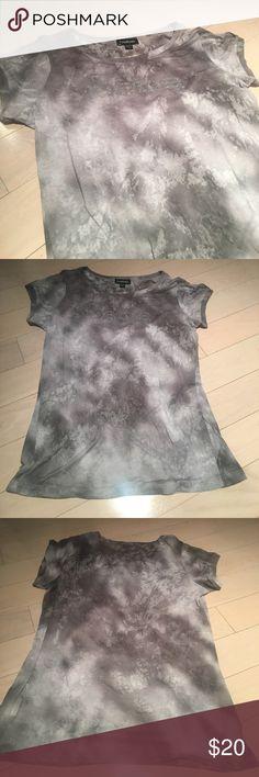 Gray Bebe Burnout Tee Size L Worn once bebe Tops Tees - Short Sleeve