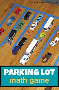 Kids who like toy cars will love learning math with this simple game!